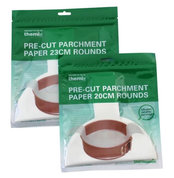 Pack of 20cm & 23cm Round Pre-cut Parchment Paper