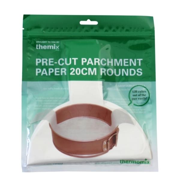 20cm Round Pre-cut Parchment Paper - 24 sheets