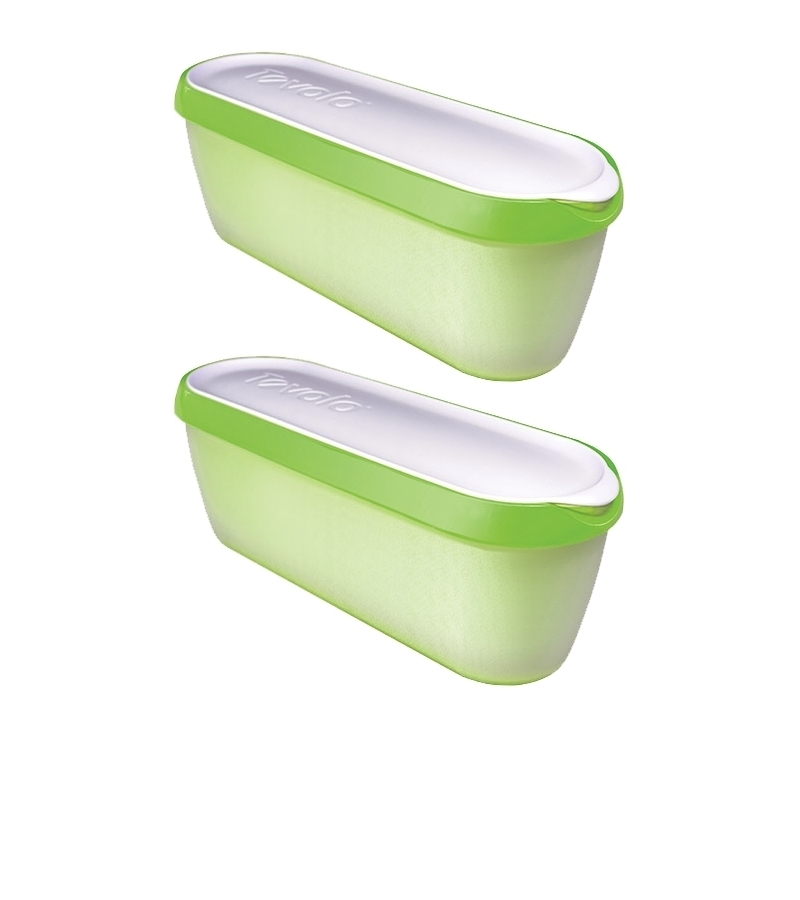 Pack of two Glide-A-Scoop Ice Cream Tubs (Green)