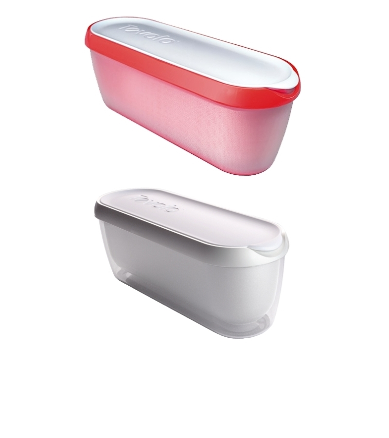 Pack of two Glide-A-Scoop Ice Cream Tubs (red and white)