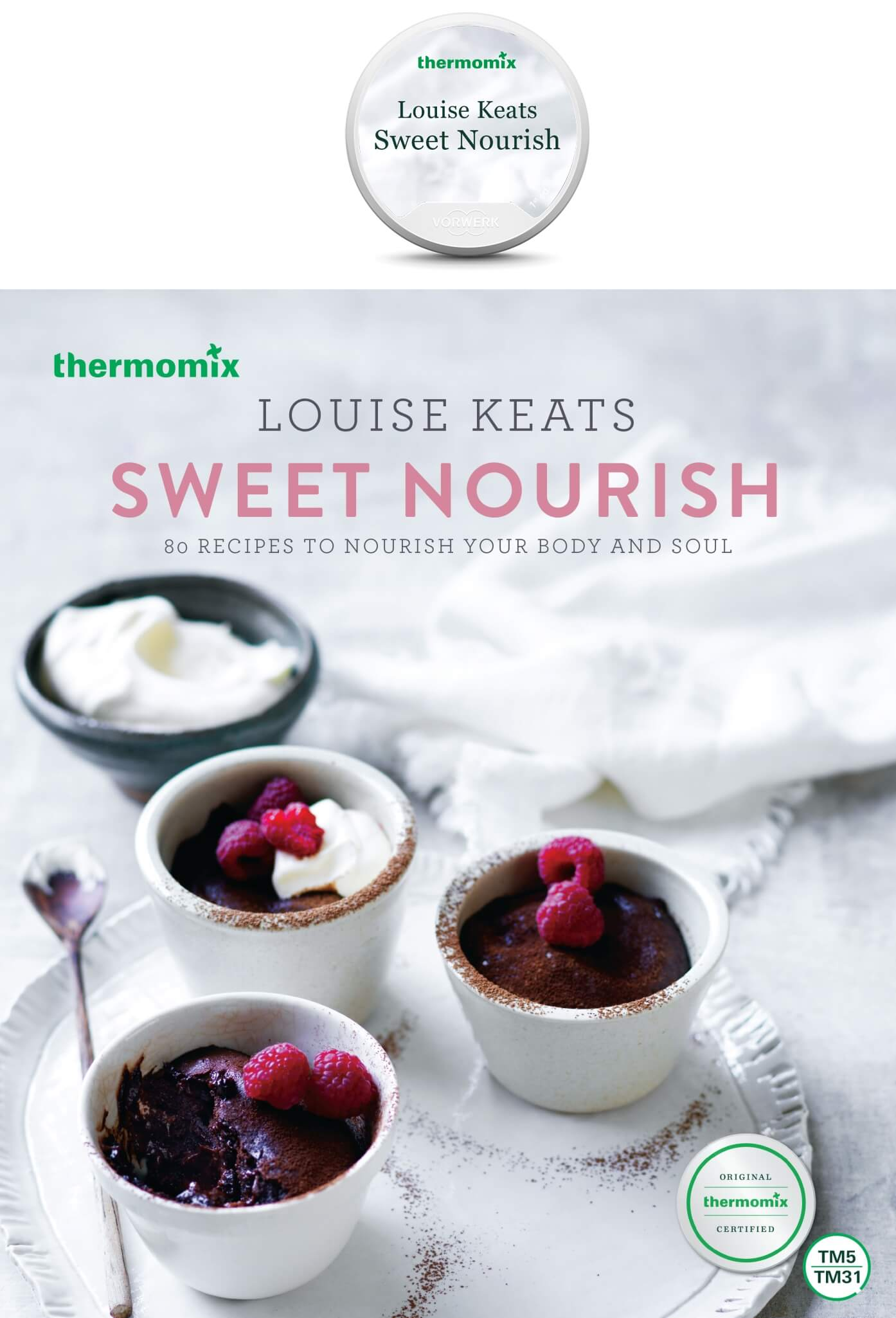 Sweet nourish cookbook and chip pack